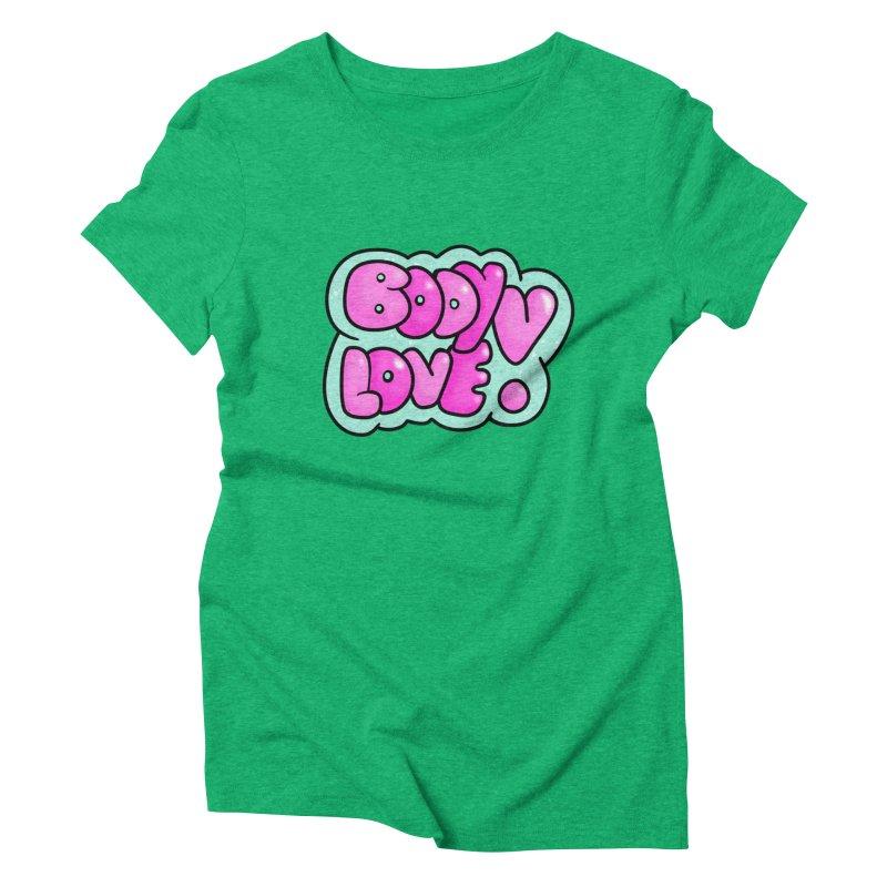Body Love Women's Triblend T-Shirt by Piratart Illustration