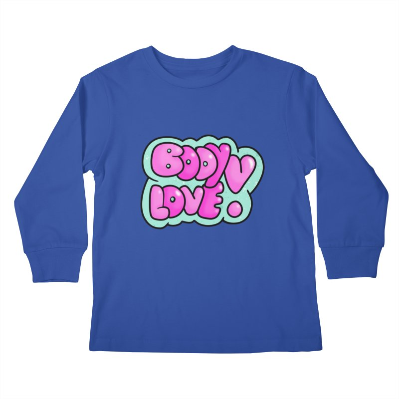 Body Love Kids Longsleeve T-Shirt by Piratart Illustration