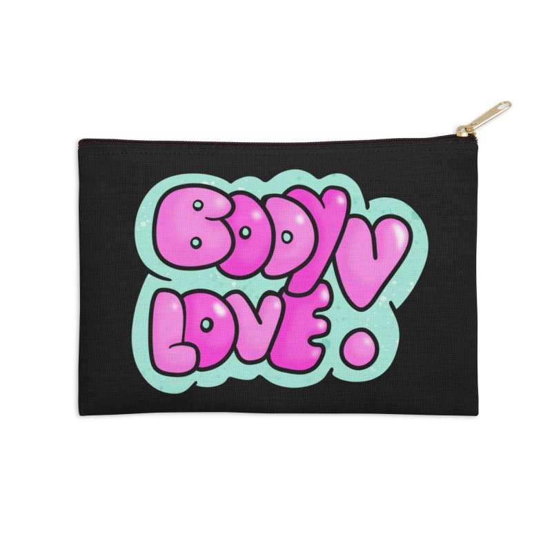 Body Love Accessories Zip Pouch by Piratart Illustration
