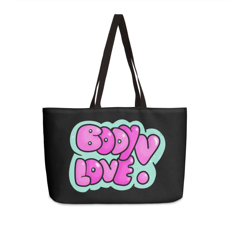 Body Love Accessories Weekender Bag Bag by Piratart Illustration