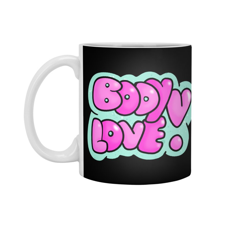 Body Love Accessories Mug by Piratart Illustration