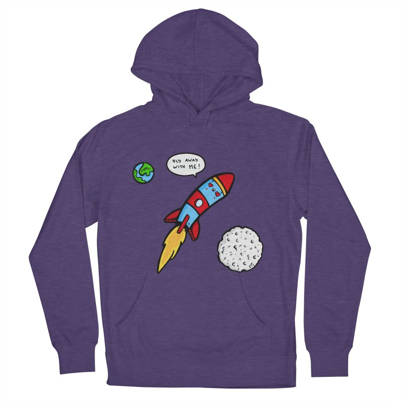 Fly Away Women's French Terry Pullover Hoody by Piratart Illustration