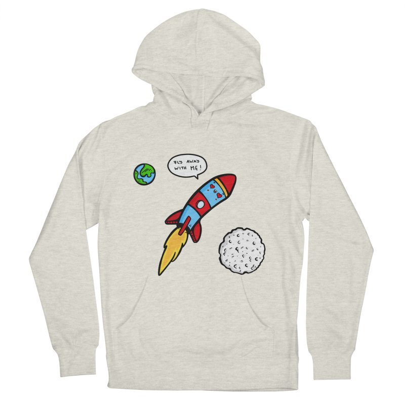 Fly Away Men's French Terry Pullover Hoody by Piratart Illustration