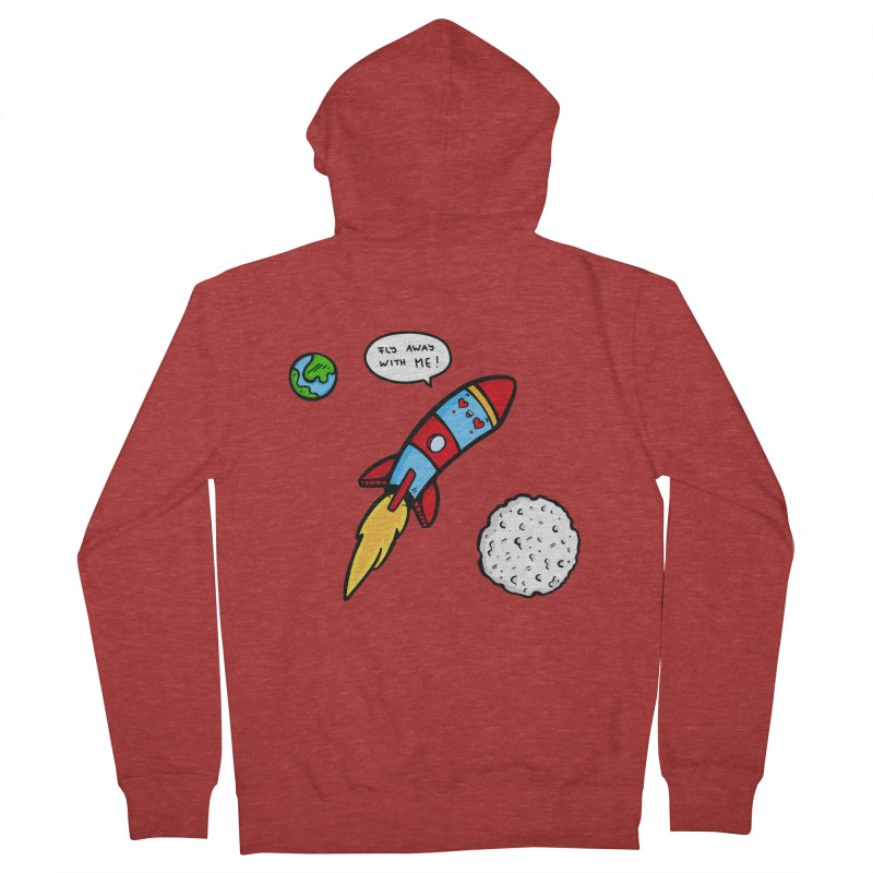 Fly Away Women's French Terry Zip-Up Hoody by Piratart Illustration