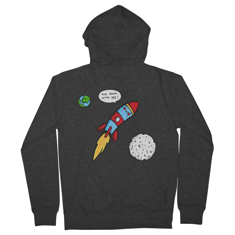 Fly Away Men's Zip-Up Hoody by Piratart Illustration