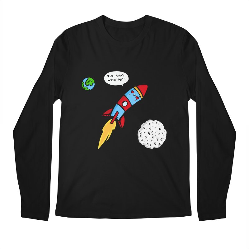 Fly Away Men's Longsleeve T-Shirt by Piratart Illustration
