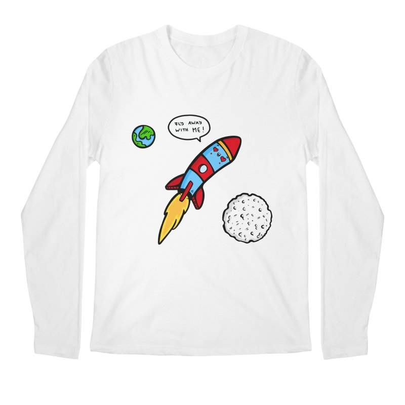 Fly Away Men's Regular Longsleeve T-Shirt by Piratart Illustration