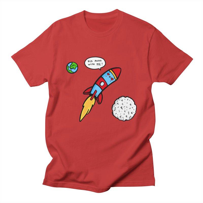 Fly Away Men's Regular T-Shirt by Piratart Illustration