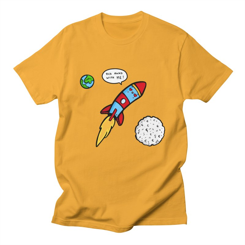 Fly Away Men's Regular T-Shirt by Piratart Illustration
