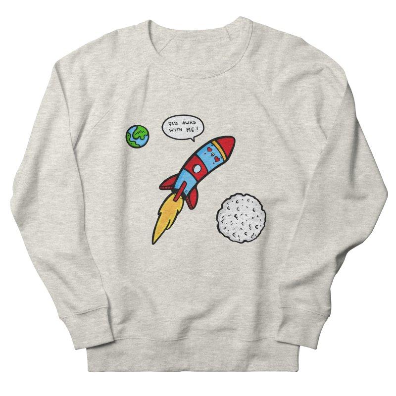 Fly Away Women's French Terry Sweatshirt by Piratart Illustration