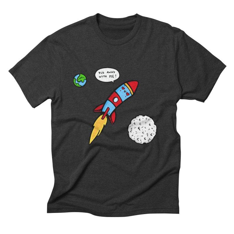 Fly Away Men's Triblend T-Shirt by Piratart Illustration