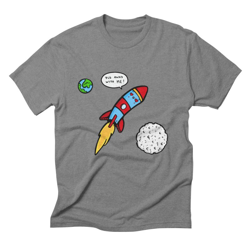 Fly Away Men's Triblend T-Shirt by Piratart Illustration