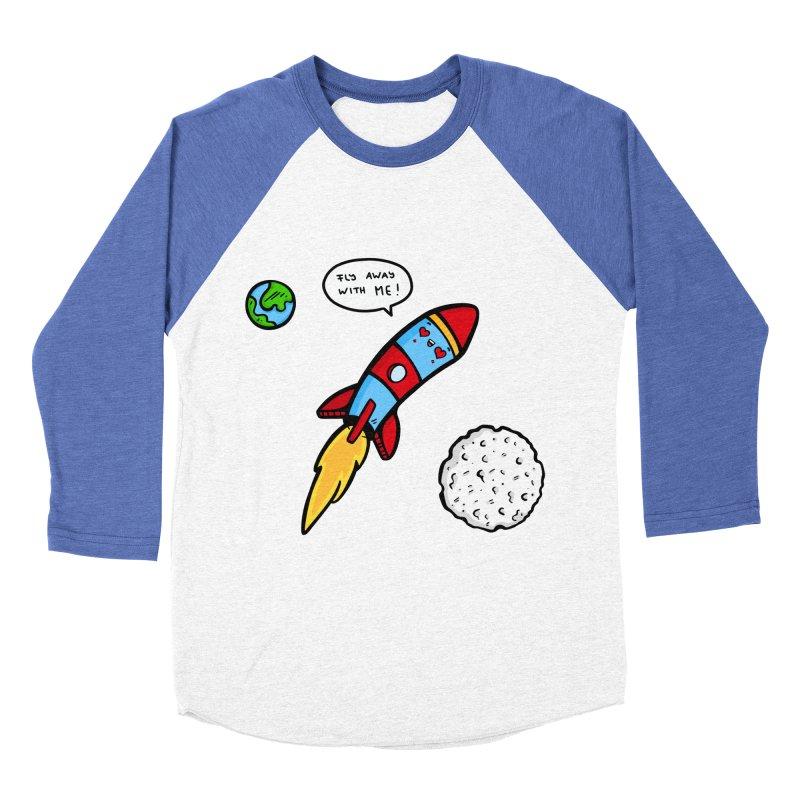 Fly Away Women's Baseball Triblend Longsleeve T-Shirt by Piratart Illustration