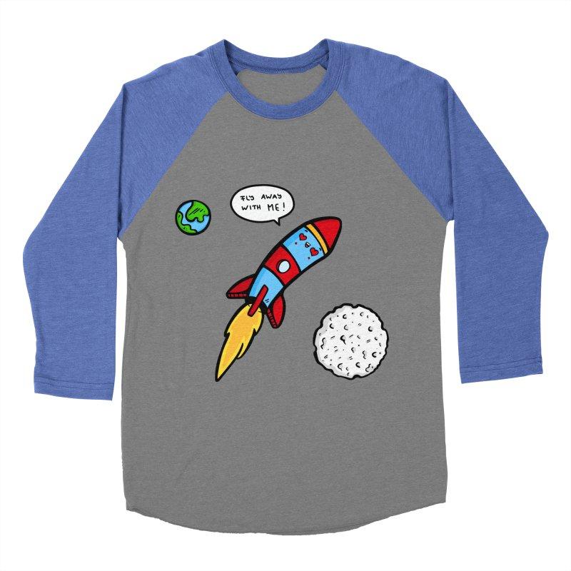 Fly Away Men's Baseball Triblend Longsleeve T-Shirt by Piratart Illustration