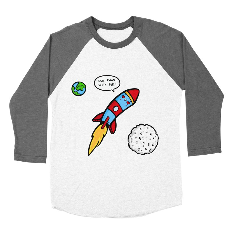Fly Away Men's Baseball Triblend T-Shirt by Piratart Illustration