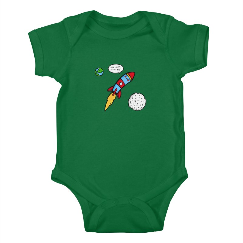 Fly Away Kids Baby Bodysuit by Piratart Illustration