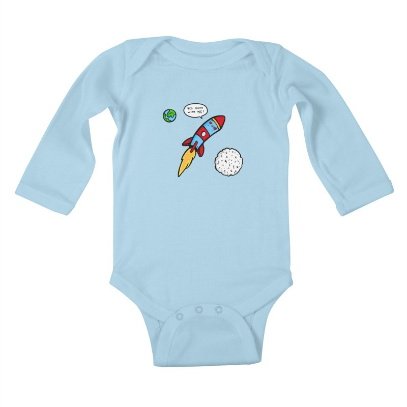 Fly Away Kids Baby Longsleeve Bodysuit by Piratart Illustration