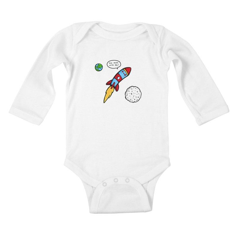 Fly Away Kids Baby Longsleeve Bodysuit by Piratart Illustration