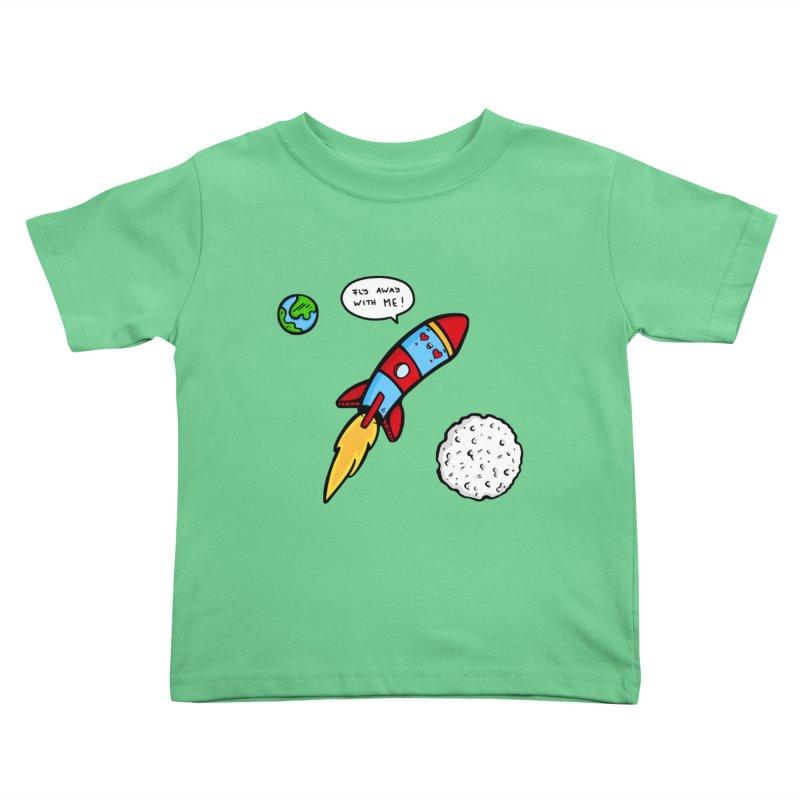 Fly Away Kids Toddler T-Shirt by Piratart Illustration