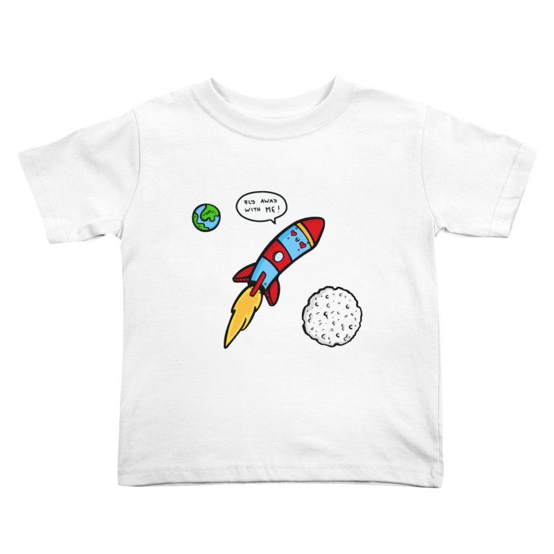 Fly Away Kids Toddler T-Shirt by Piratart Illustration