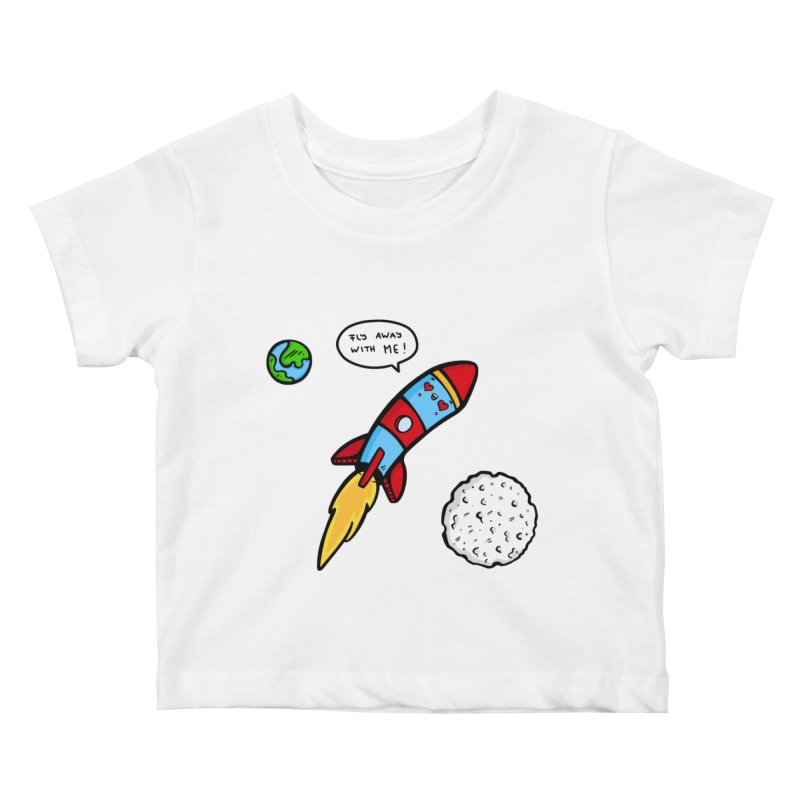 Fly Away Kids Baby T-Shirt by Piratart Illustration