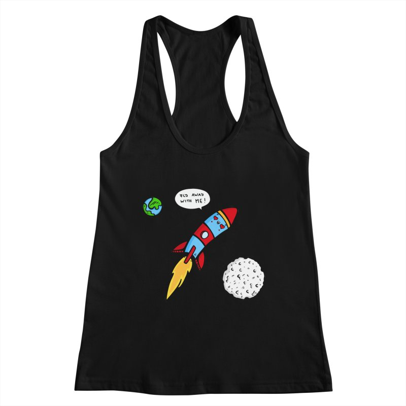 Fly Away Women's Tank by Piratart Illustration