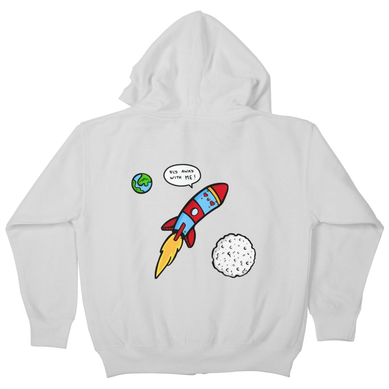Fly Away Kids Zip-Up Hoody by Piratart Illustration