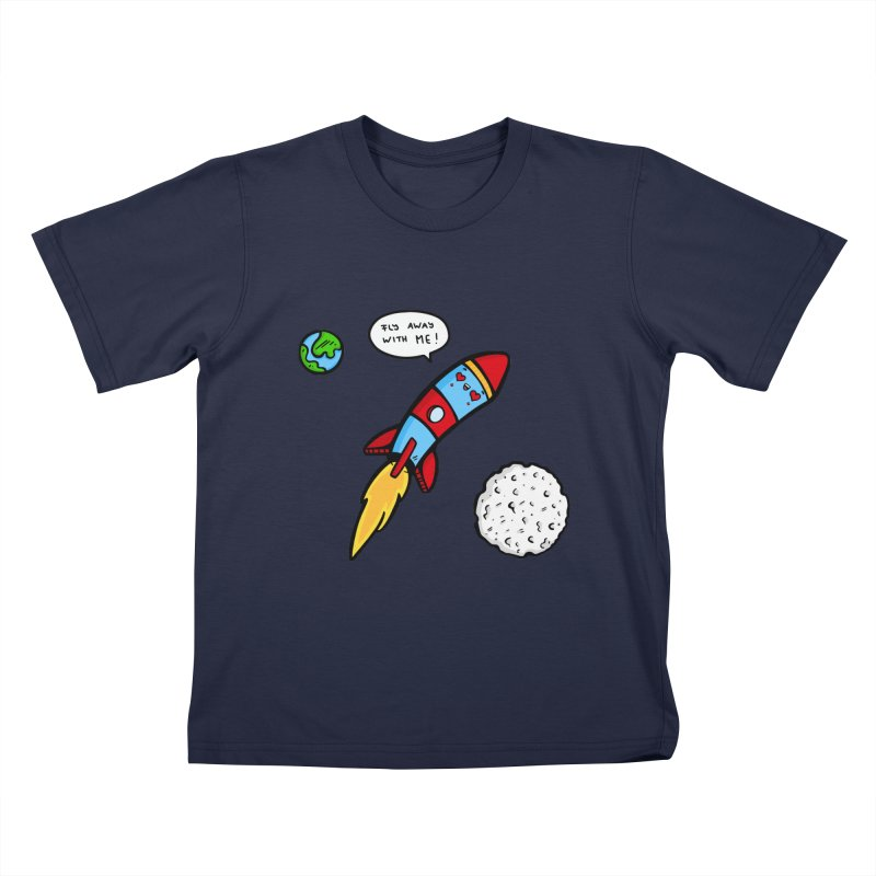 Fly Away Kids T-Shirt by Piratart Illustration