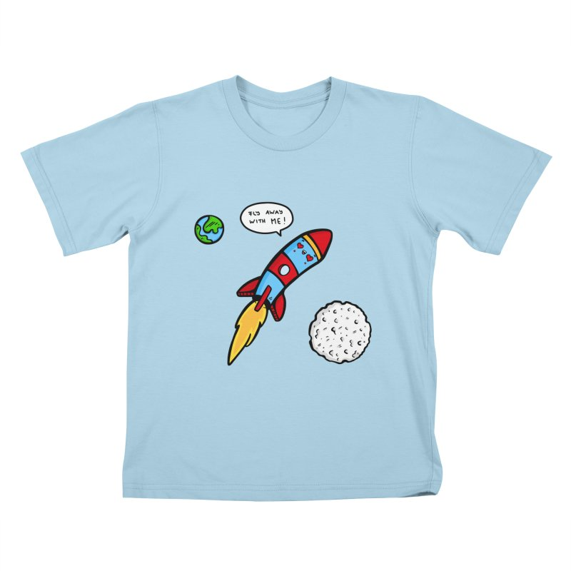 Fly Away Kids T-Shirt by Piratart Illustration
