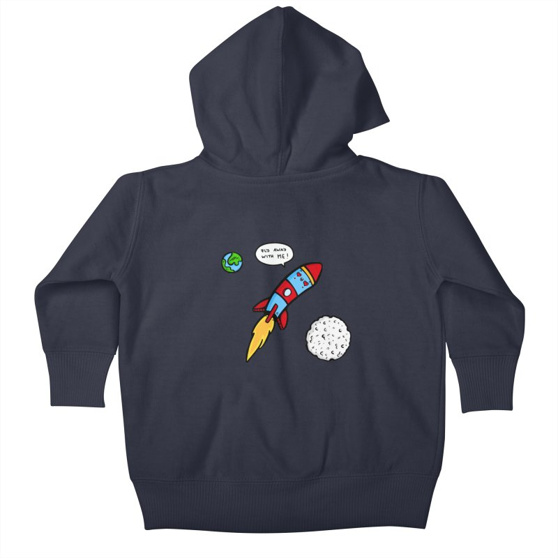 Fly Away Kids Baby Zip-Up Hoody by Piratart Illustration