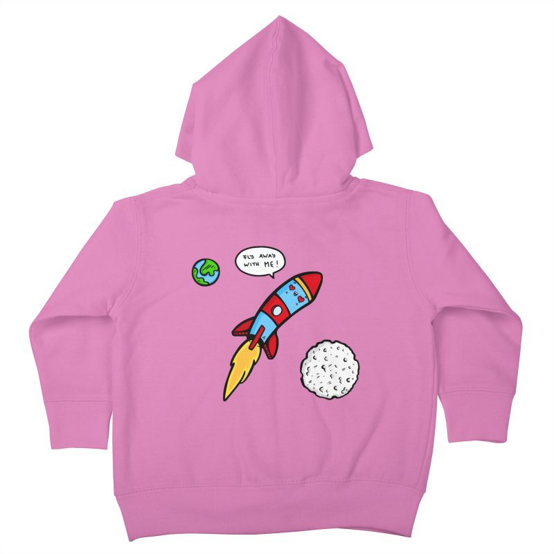 Fly Away Kids Toddler Zip-Up Hoody by Piratart Illustration