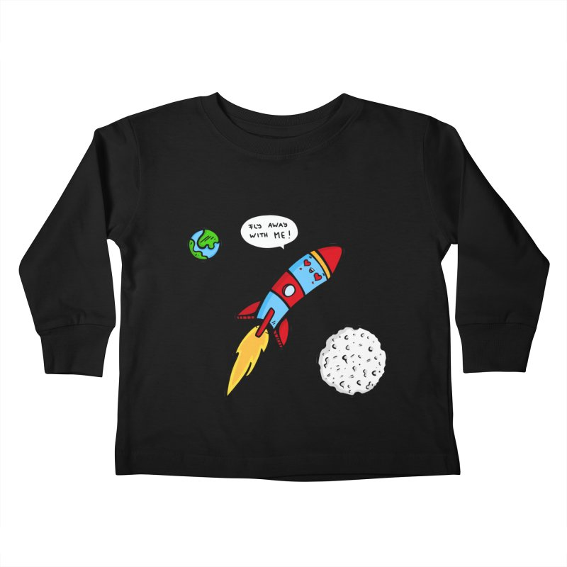 Fly Away Kids Toddler Longsleeve T-Shirt by Piratart Illustration