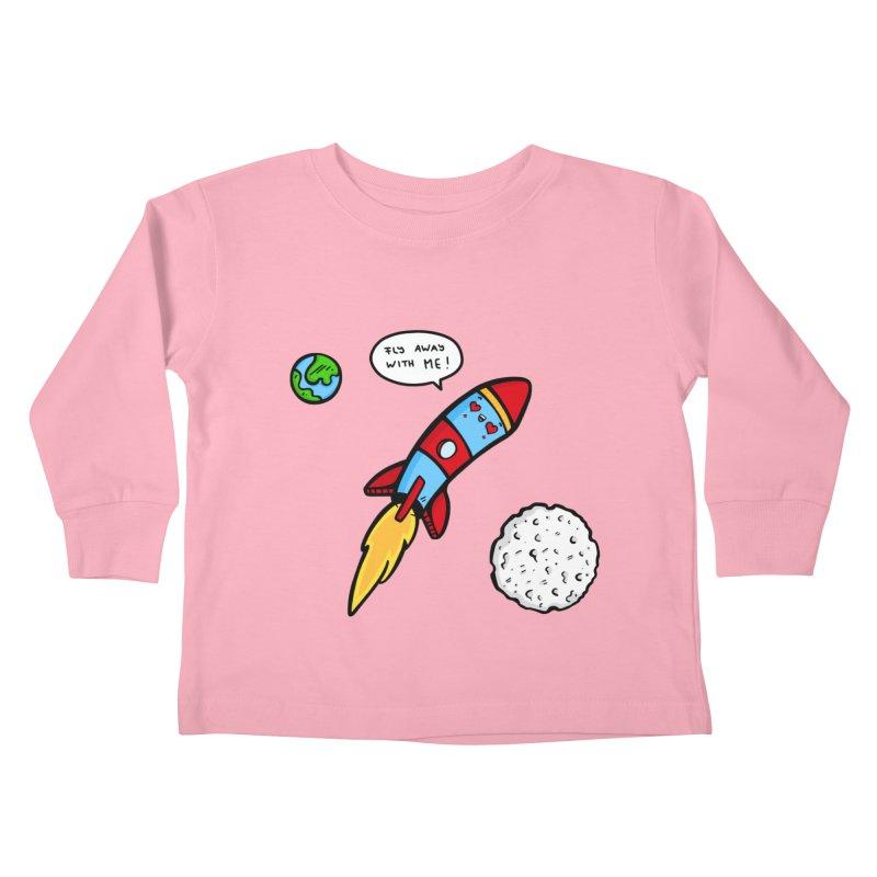 Fly Away Kids Toddler Longsleeve T-Shirt by Piratart Illustration