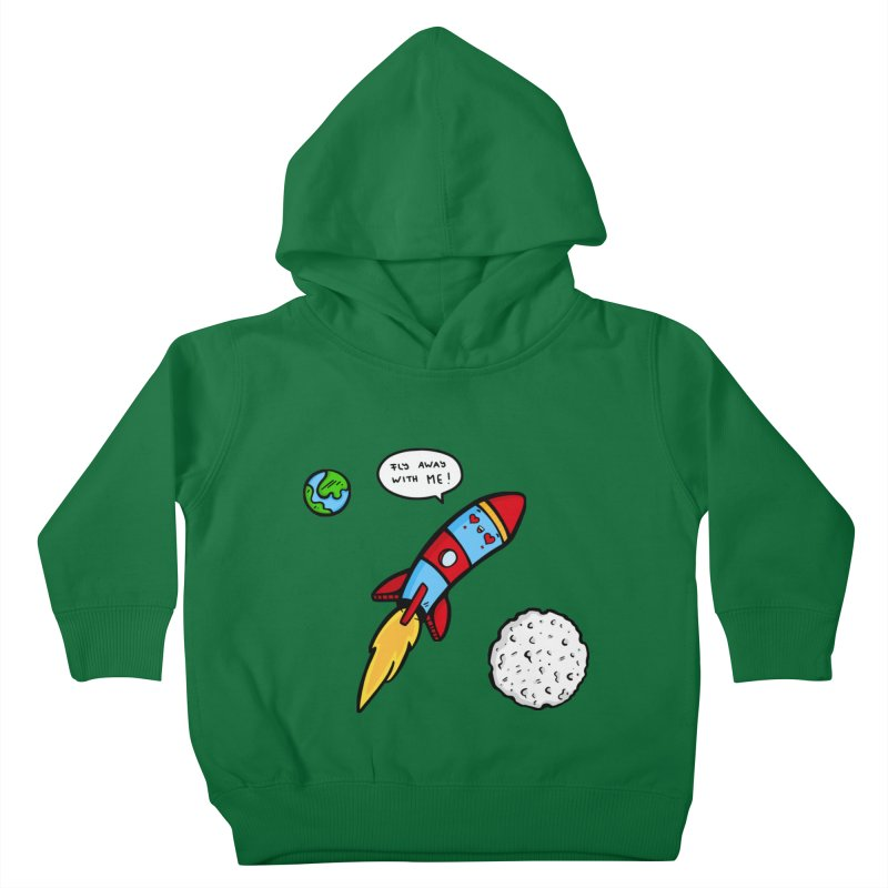 Fly Away Kids Toddler Pullover Hoody by Piratart Illustration