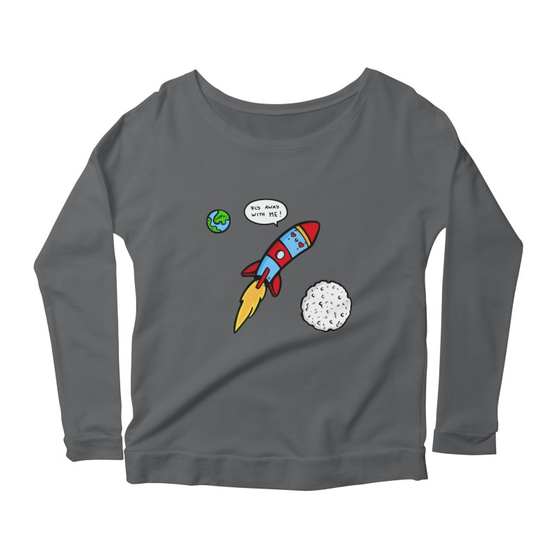 Fly Away Women's Scoop Neck Longsleeve T-Shirt by Piratart Illustration