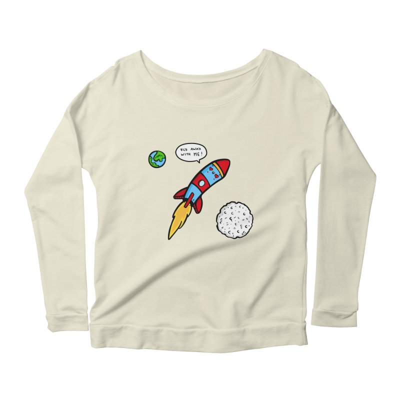 Fly Away Women's Scoop Neck Longsleeve T-Shirt by Piratart Illustration