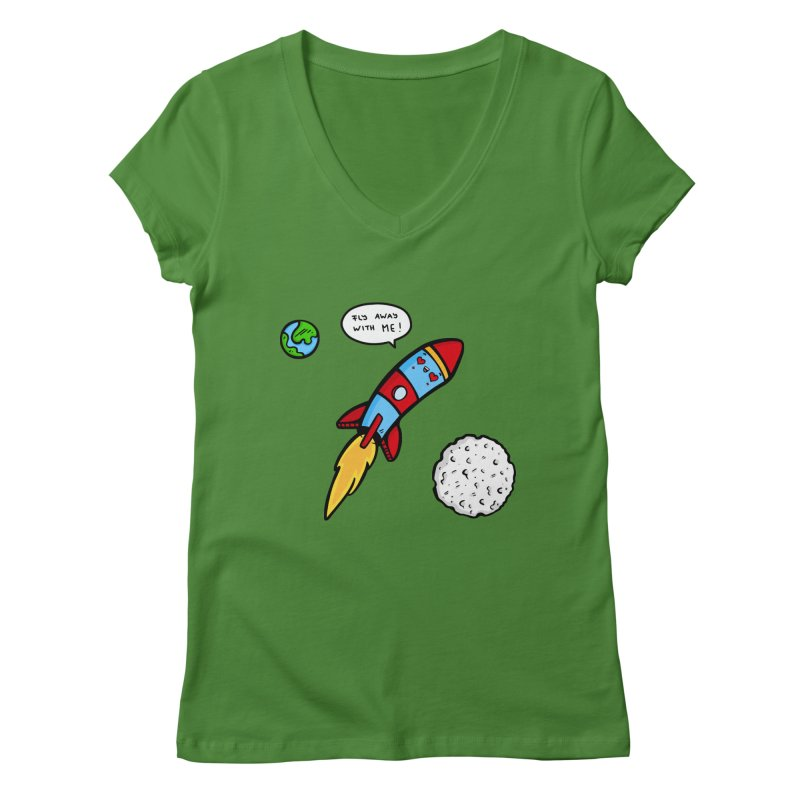 Fly Away Women's V-Neck by Piratart Illustration