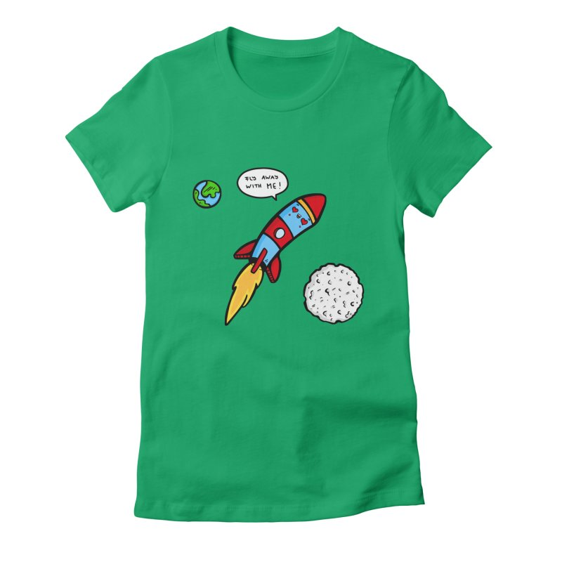 Fly Away Women's Fitted T-Shirt by Piratart Illustration