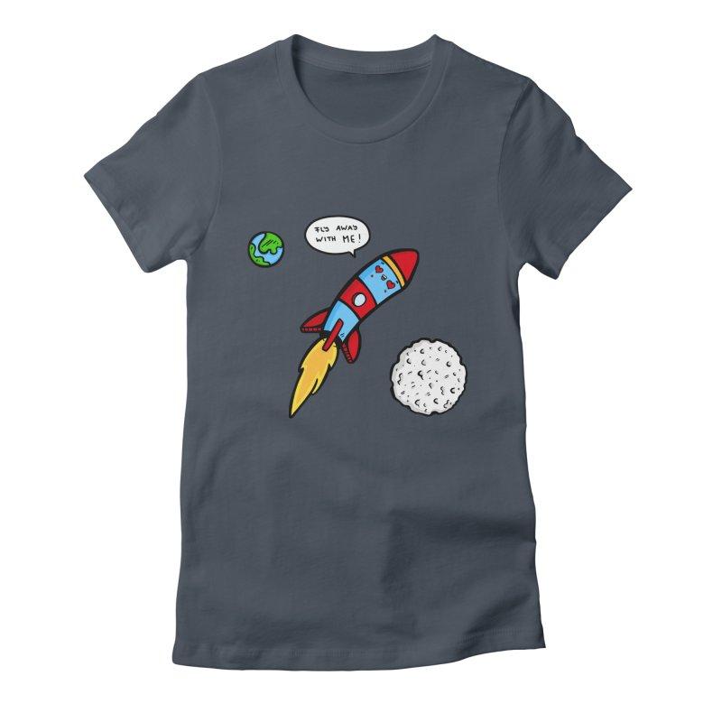 Fly Away Women's T-Shirt by Piratart Illustration
