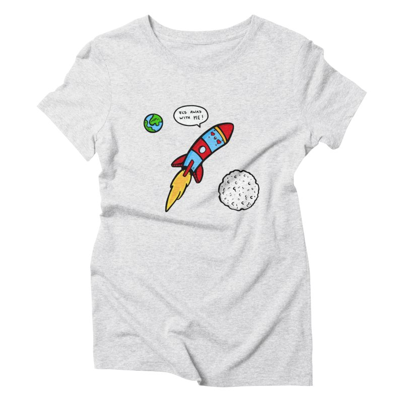 Fly Away Women's Triblend T-Shirt by Piratart Illustration