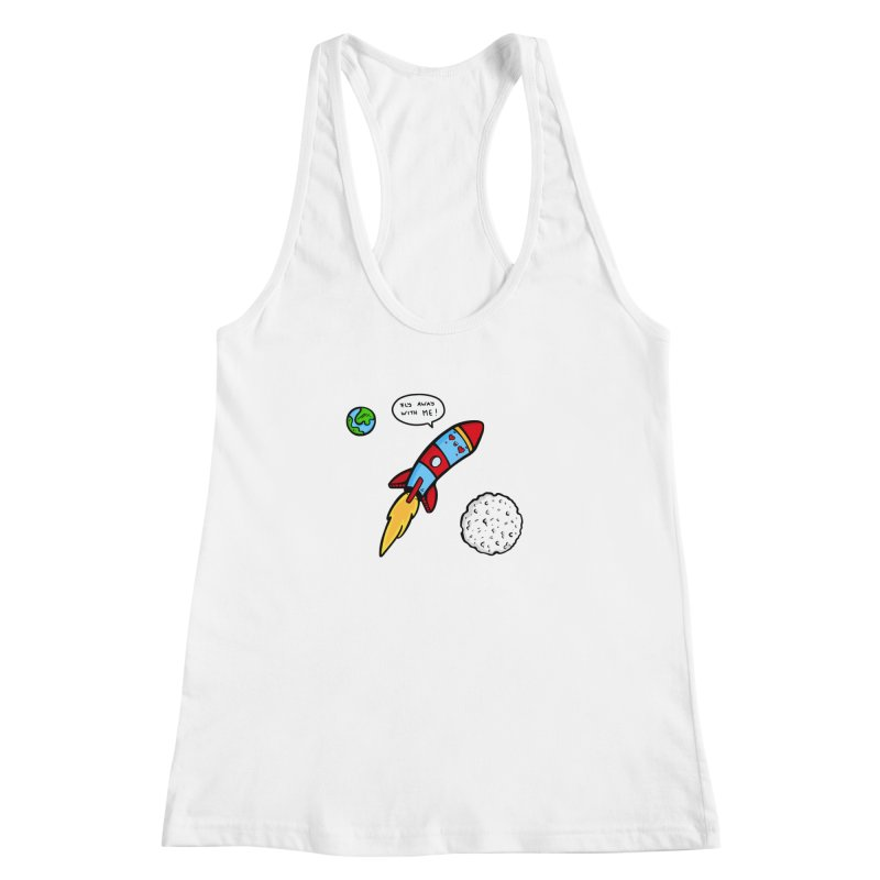 Fly Away Women's Racerback Tank by Piratart Illustration