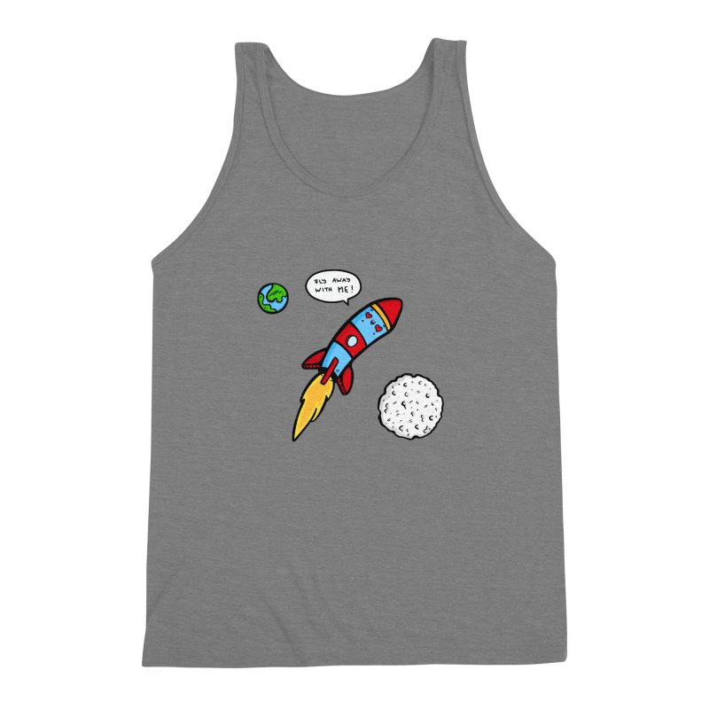 Fly Away Men's Triblend Tank by Piratart Illustration