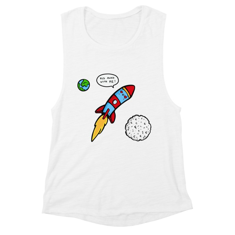 Fly Away Women's Muscle Tank by Piratart Illustration