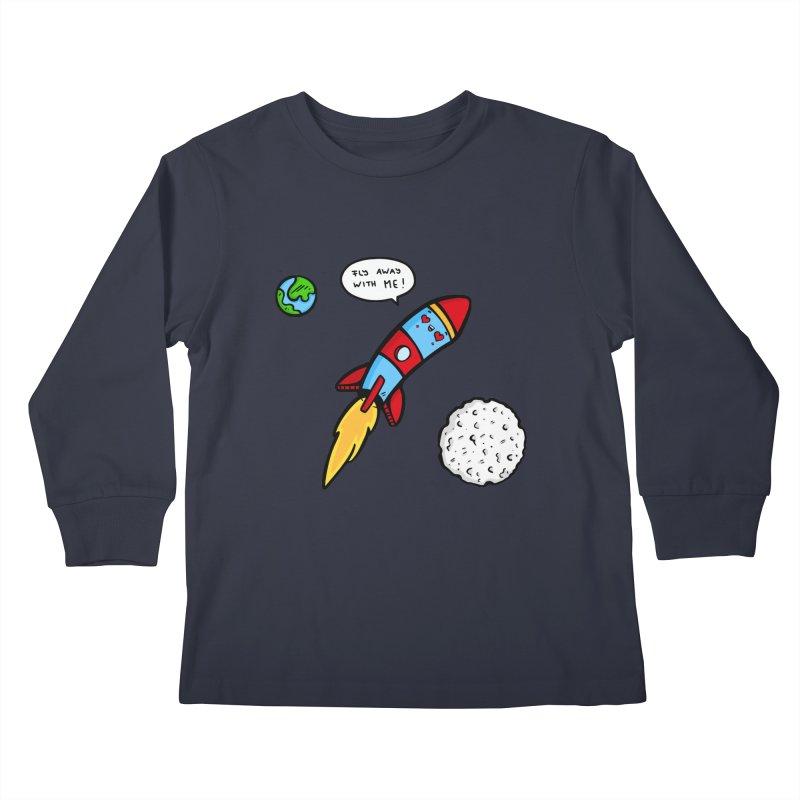 Fly Away Kids Longsleeve T-Shirt by Piratart Illustration