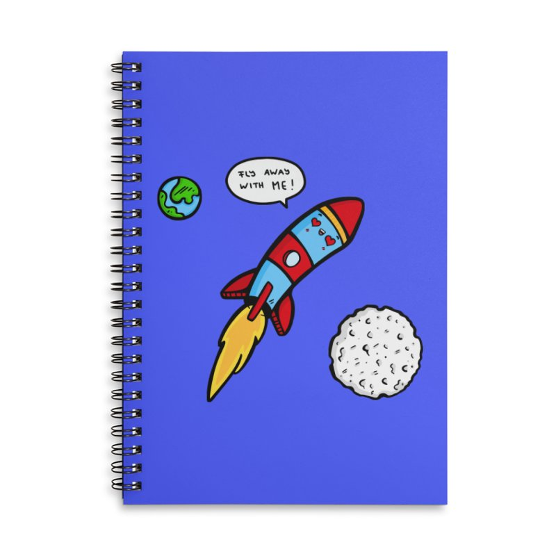 Fly Away Accessories Lined Spiral Notebook by Piratart Illustration