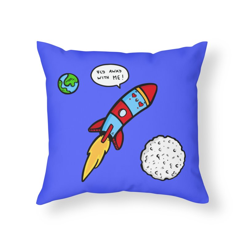 Fly Away Home Throw Pillow by Piratart Illustration