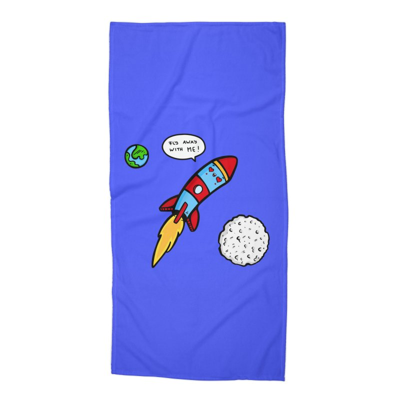 Fly Away Accessories Beach Towel by Piratart Illustration