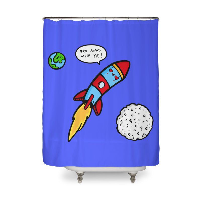 Fly Away Home Shower Curtain by Piratart Illustration