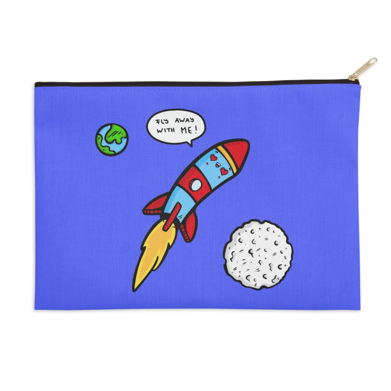 Fly Away Accessories Zip Pouch by Piratart Illustration
