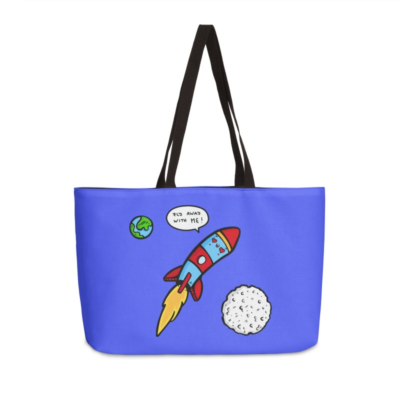 Fly Away Accessories Weekender Bag Bag by Piratart Illustration
